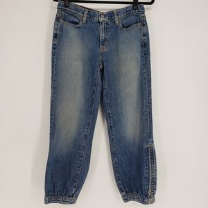 Gap   Cropped Jogger Ankle Zip Jeans - Size 4